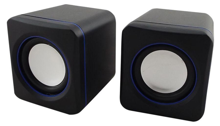 Колонки OKLICK OK-301,  черный,  синий [ok-301 blue]