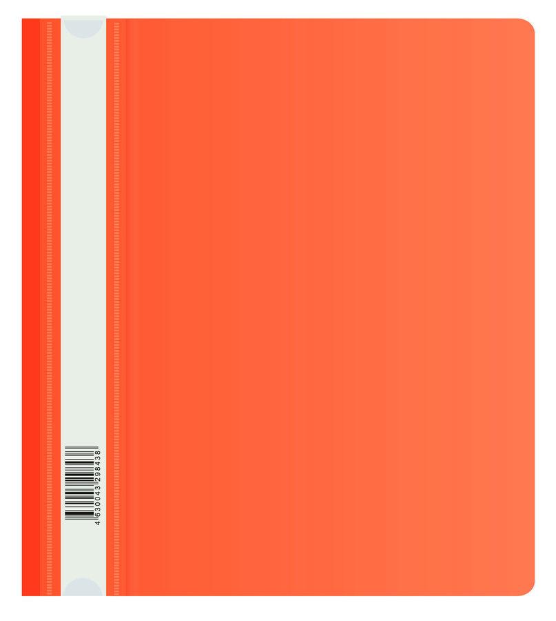 Папка-скоросшиватель Бюрократ Люкс -PSL20A5RED A5 прозрач.верх.лист пластик красный 0.14/0.18