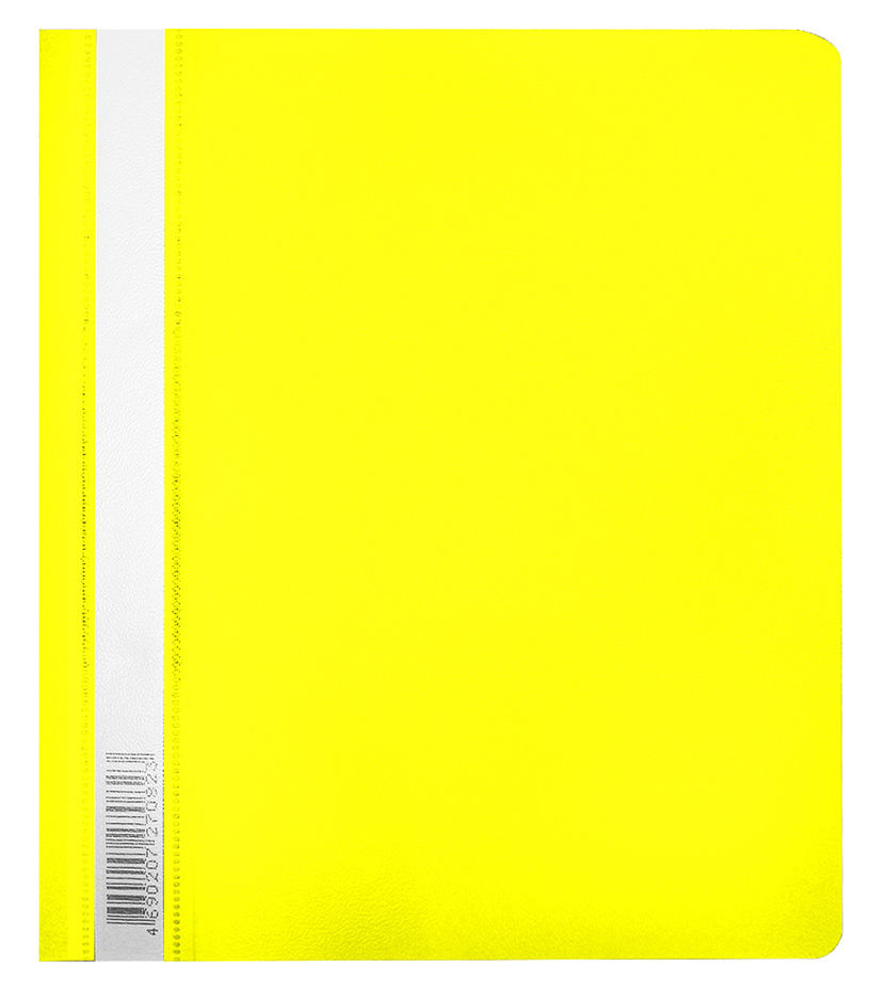 Папка-скоросшиватель Бюрократ Люкс -PSL20A5YEL A5 прозрач.верх.лист пластик желтый 0.14/0.18