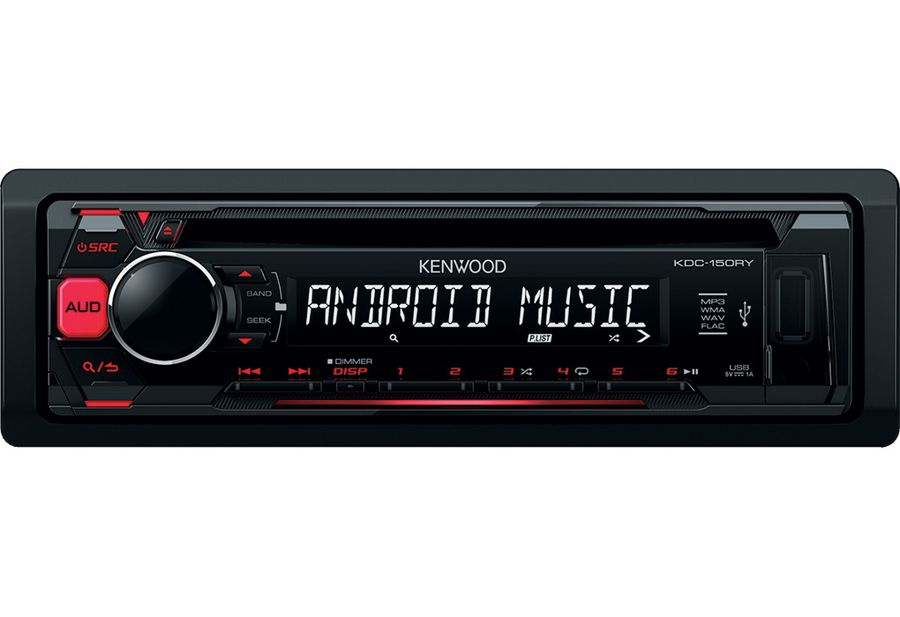 Автомагнитола KENWOOD KDC-150RY, USB автомагнитола kenwood kdc bt500u usb mp3 cd fm rds 1din 4х50вт черный