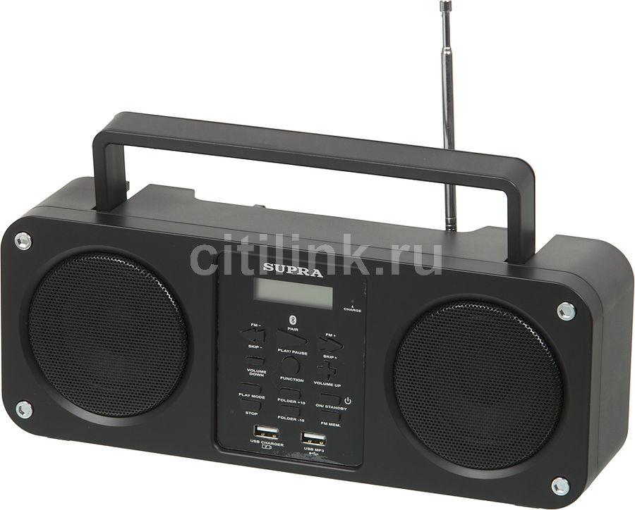 Аудиомагнитола SUPRA BB-M102UB,  черный