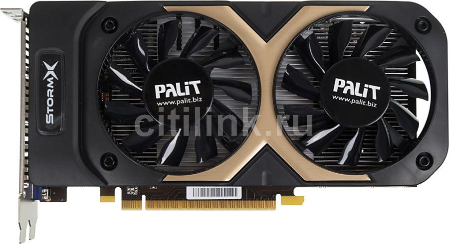 Видеокарта PALIT GeForce GTX 750Ti,  PA-GTX750Ti StormX Dual,  2Гб, GDDR5, OC,  Ret [ne5x75tthd41-1076f]