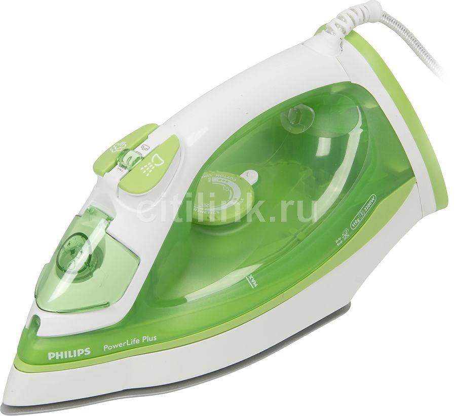 Утюг PHILIPS GC2980/70,  2200Вт,  зеленый/ белый