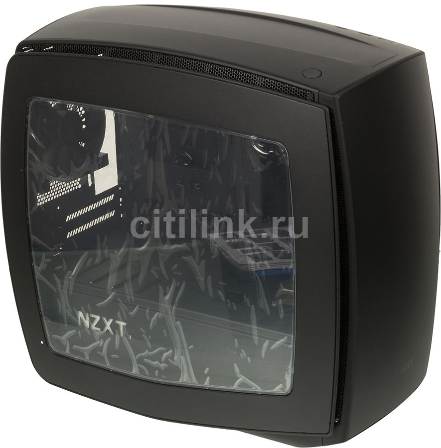 Корпус miniITX NZXT MANTA Window, Midi-Tower, без БП, черный