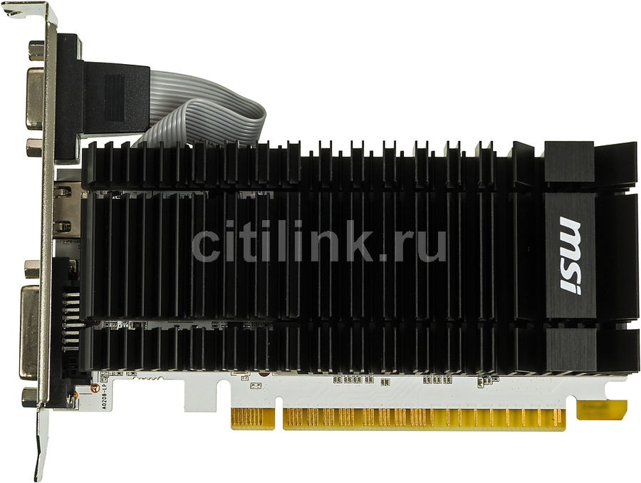 Видеокарта MSI nVidia  GeForce GT 730 ,  N730K-2GD3H/LP,  2Гб, GDDR3, Low Profile,  Ret