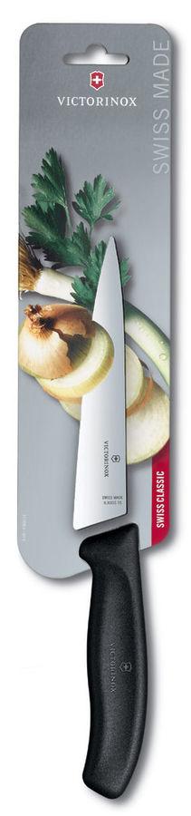 Нож кухонный Victorinox Swiss Classic (6.8003.15B) стальной разделочный лезв.150мм прямая заточка че