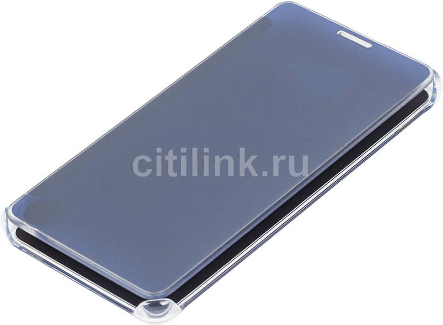 Чехол (флип-кейс) SAMSUNG Clear View Cover, для Samsung Galaxy A5 (2016), темно-синий [ef-za510cbegru]