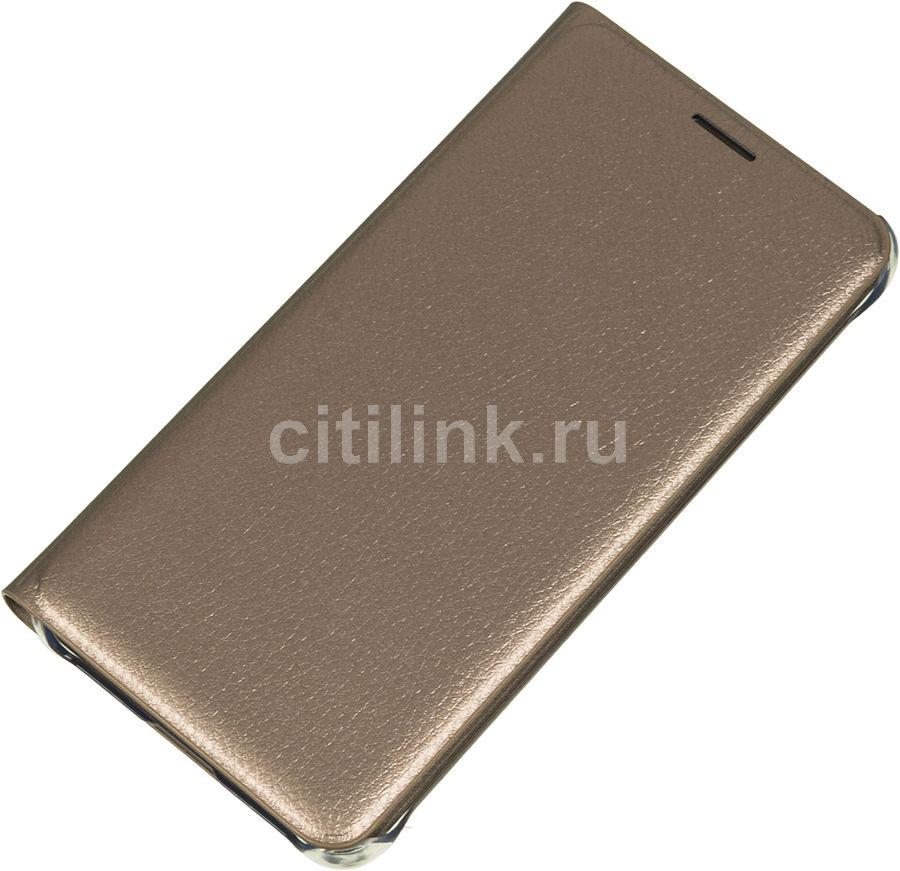 Чехол (флип-кейс) SAMSUNG Flip Wallet, для Samsung Galaxy A5 (2016), золотистый [ef-wa510pfegru]