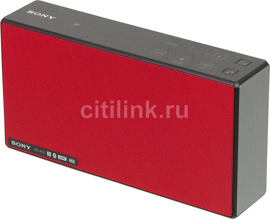 Портативные колонки SONY SRS-X55R,  красный [srsx55r.ru4]