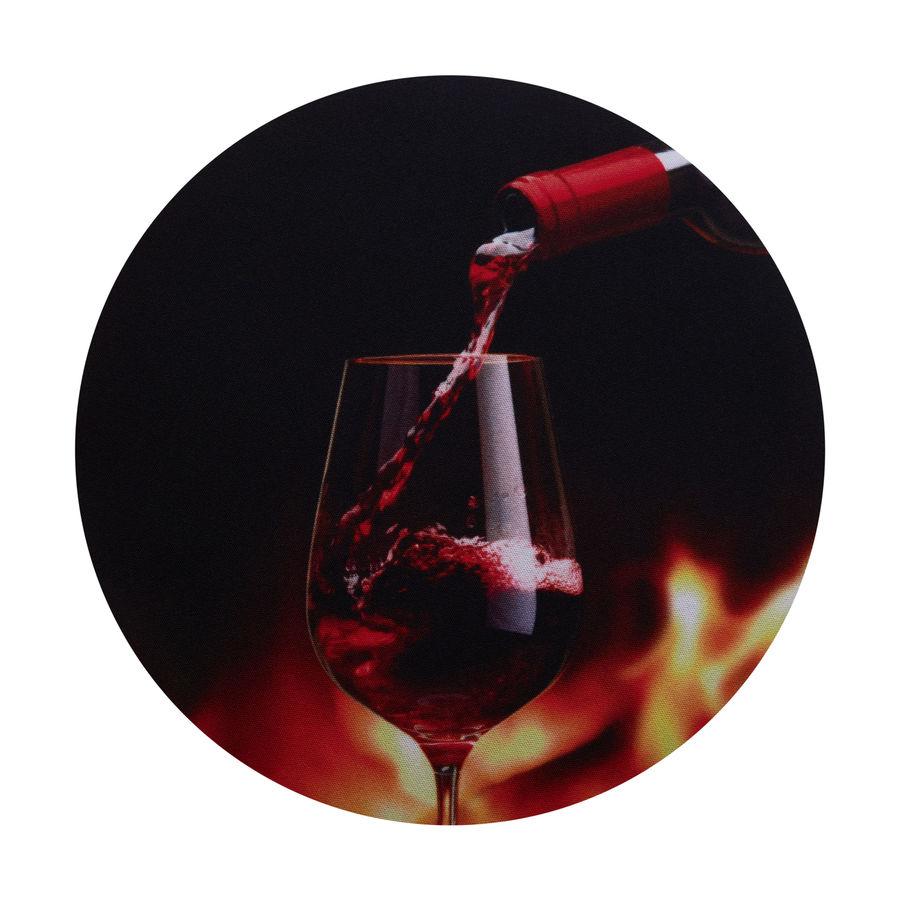 Коврик для мыши BURO BU-T60056,  рисунок/вино