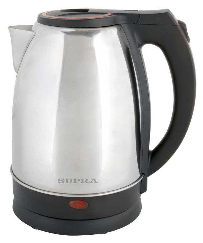 Чайник электрический SUPRA KES-2231, 2200Вт, серебристый и красный