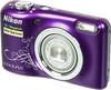 Цифровой фотоаппарат NIKON CoolPix A10,  фиолетовый/ рисунок вид 2
