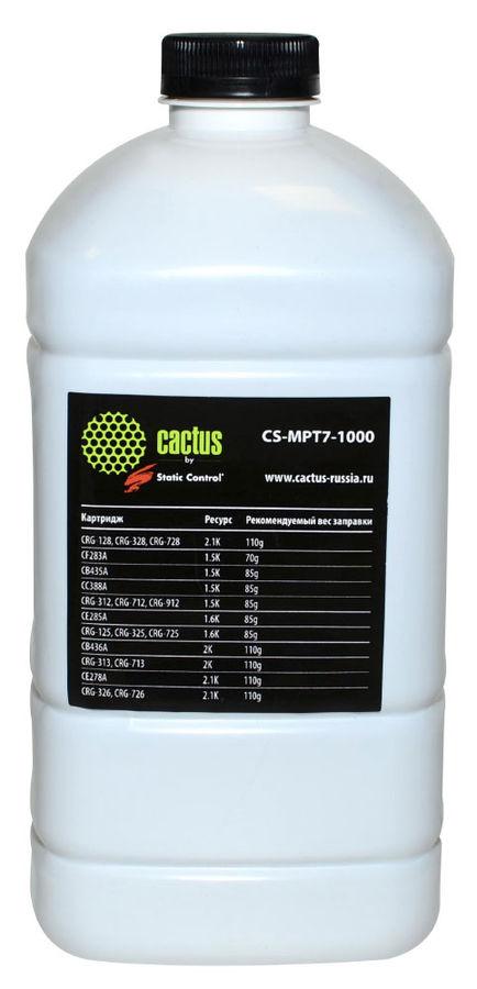 Тонер CACTUS CS-MPT7-1000,  для HP LJ P1005/P1006/P1100/P1102(SCC),  черный, 1000грамм, флакон