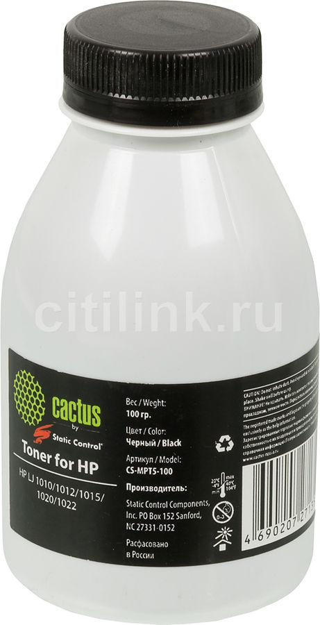 Тонер CACTUS CS-MPT5-100,  для HP LJ 1010/1012/1015/1020/1022(SCC),  черный, 100грамм, флакон