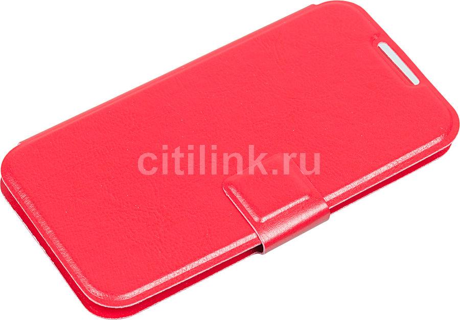 """Чехол (флип-кейс) REDLINE iBox Universal, для универсальный 4.2-5"""", красный [ут000005633]"""
