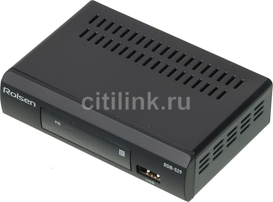Ресивер DVB-T2 ROLSEN RDB-529,  черный [1-rldb-rdb-529]