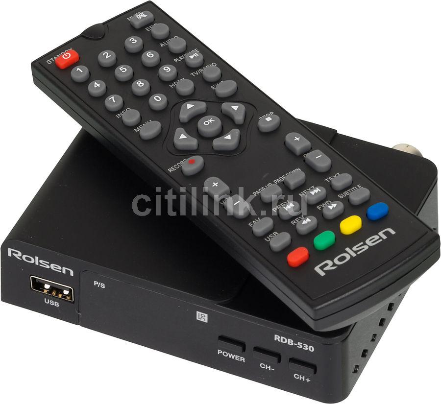 Ресивер DVB-T2 ROLSEN RDB-530,  черный [1-rldb-rdb-530]
