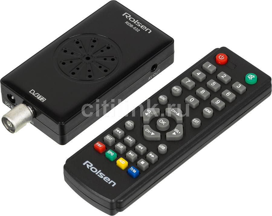 Ресивер DVB-T2 ROLSEN RDB-532,  черный [1-rldb-rdb-532]