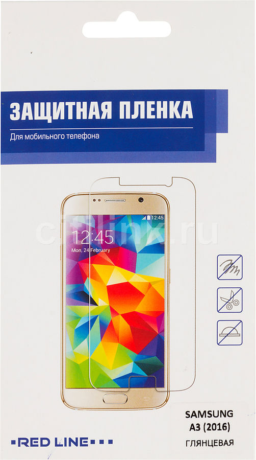 Защитная пленка REDLINE для Samsung Galaxy A3 2016,  прозрачная, 1 шт [ут000008185]