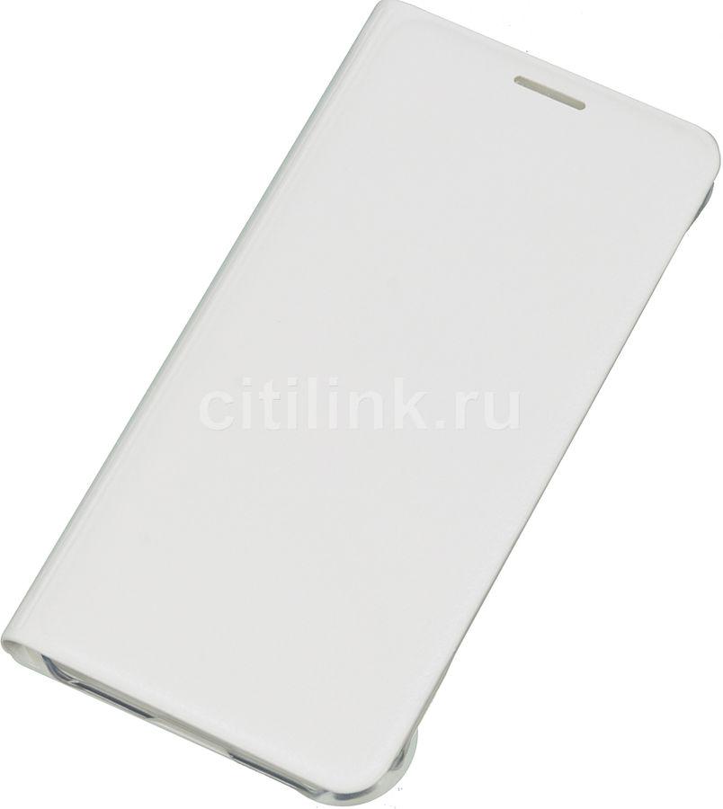 Чехол (флип-кейс) SAMSUNG Flip Wallet, для Samsung Galaxy A3 (2016), белый [ef-wa310pwegru]