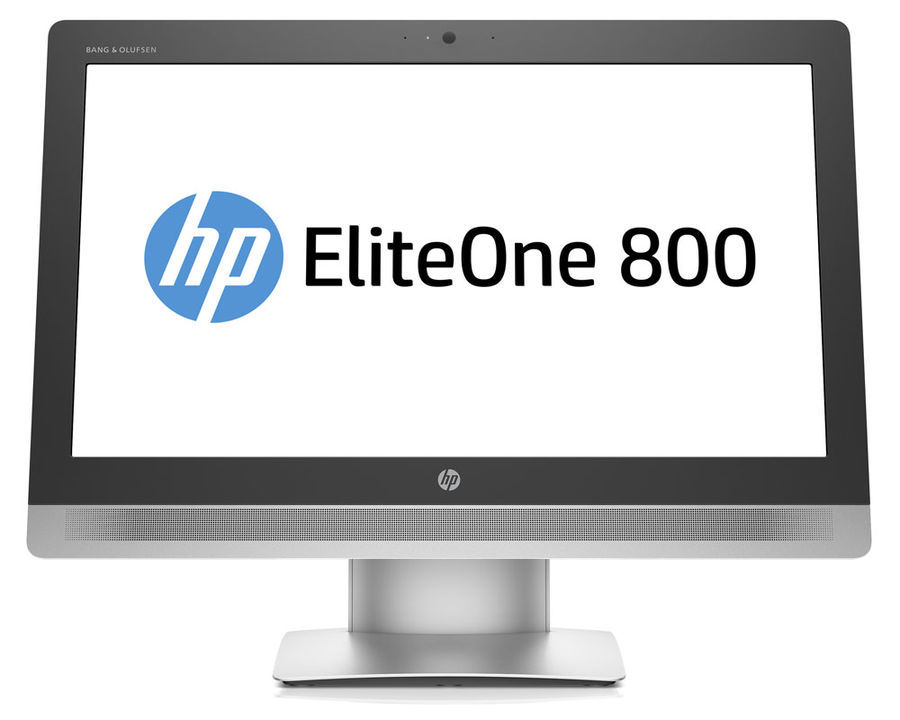 Моноблок HP EliteOne 800 G2, Intel Pentium G4400, 4Гб, 500Гб, Intel HD Graphics 510, DVD-RW, Windows 7 Professional, черный и серебристый [v6k47ea]