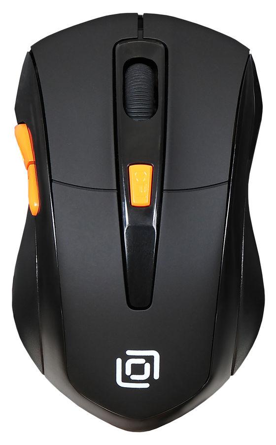 Мышь OKLICK 585MW, оптическая, беспроводная, USB, черный [sh-649]