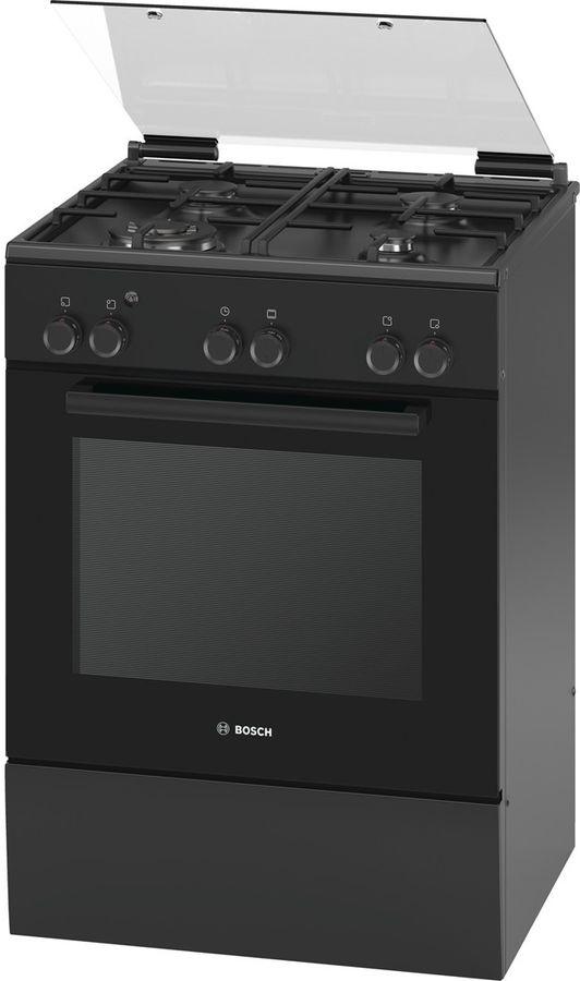 Газовая плита BOSCH HGA23W165R,  газовая духовка,  черный