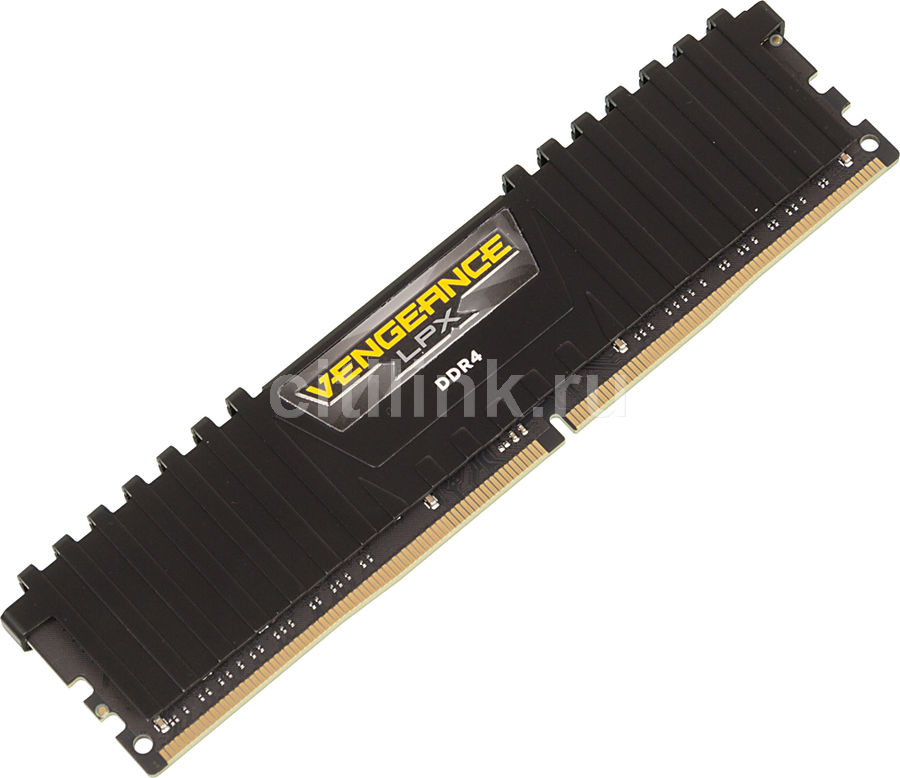 Модуль памяти CORSAIR Vengeance LPX CMK16GX4M1A2666C16 DDR4 -  16Гб 2666, DIMM,  Ret
