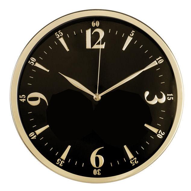 Настенные часы БЮРОКРАТ WallC-R25M, аналоговые,  черный