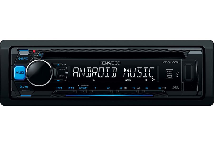 Автомагнитола KENWOOD KDC-100UB, USB автомагнитола kenwood kdc bt500u usb mp3 cd fm rds 1din 4х50вт черный