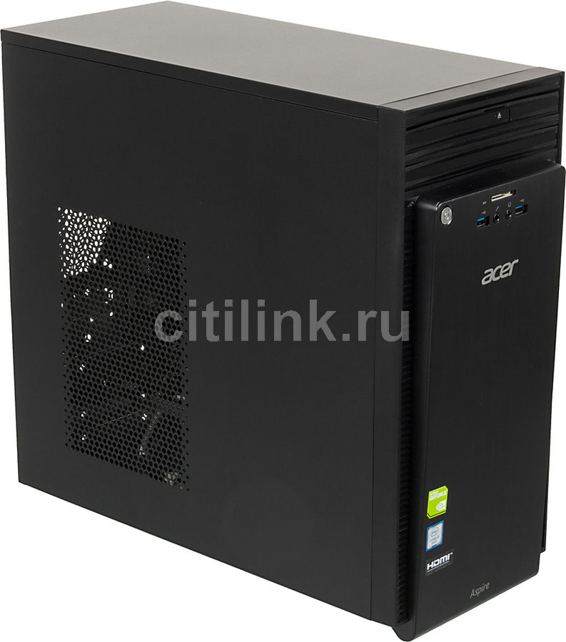 Компьютер  ACER Aspire TC-710,  Intel  Core i3  6100,  DDR3 4Гб, 1000Гб,  nVIDIA GeForce GT705 - 1024 Мб,  DVD-RW,  CR,  Windows 10 Home,  черный [dt.b15er.017]
