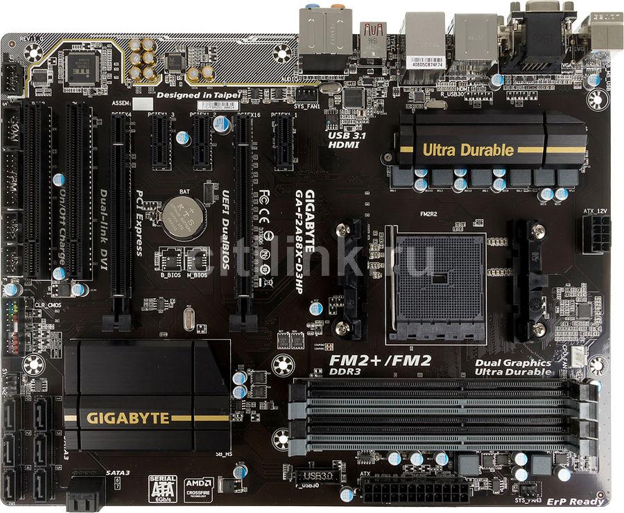 Материнская плата GIGABYTE GA-F2A88X-D3HP, Socket FM2+, AMD A88X, ATX, Ret