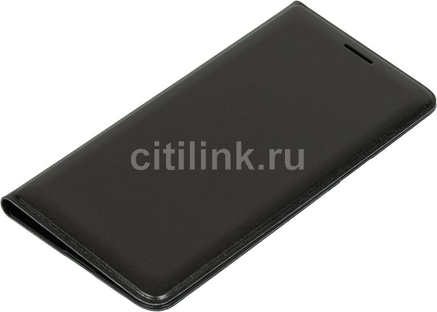 Чехол (флип-кейс) SAMSUNG Flip Wallet, для Samsung Galaxy J3, черный [ef-wj320pbegru]