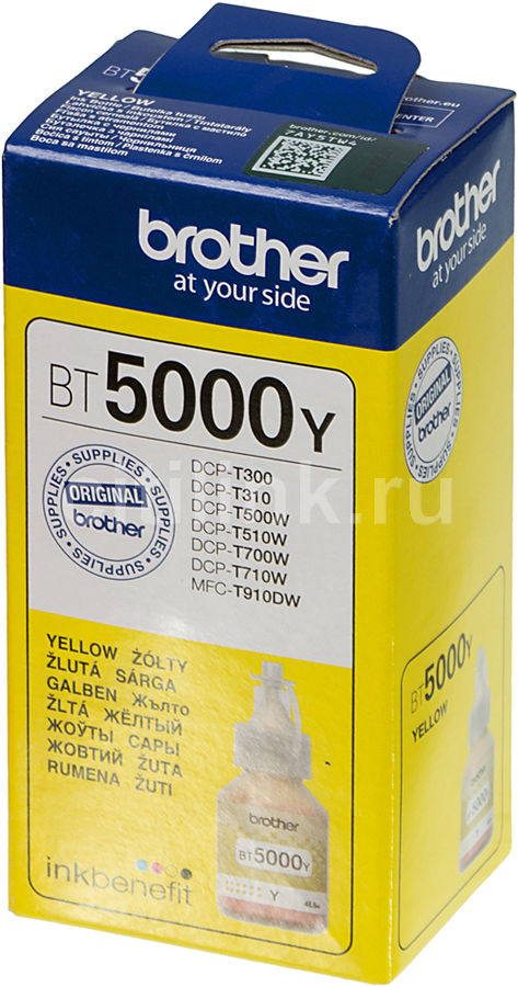 Картридж BROTHER BT5000Y желтый cactus cs i bt5000y yellow чернила для brother dcp t300 dcp t500w dcp t700w mfc t800w
