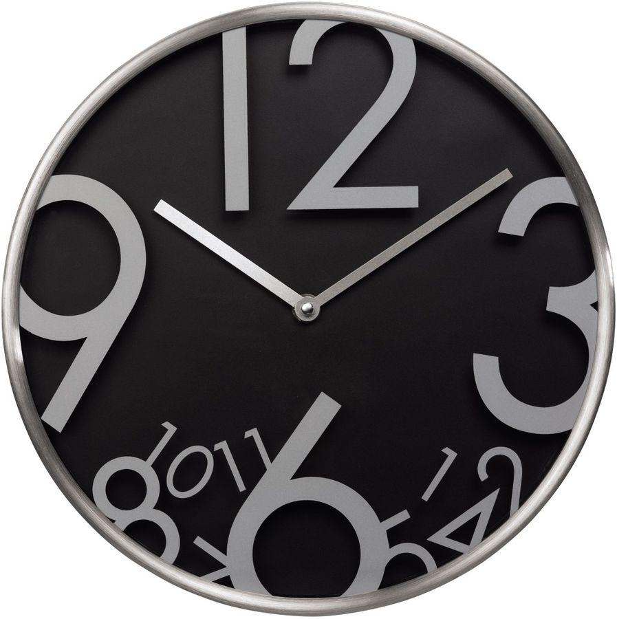 Настенные часы HAMA AG-300, аналоговые,  черный