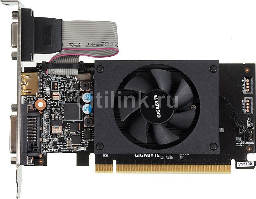 Видеокарта GIGABYTE nVidia  GeForce GT 710 ,  GV-N710D3-1GL,  1Гб, DDR3, Low Profile,  Ret