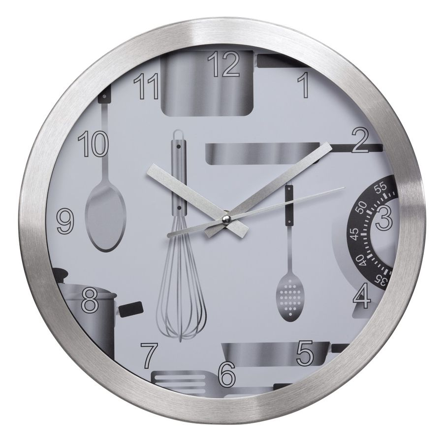 Настенные часы HAMA AG-300, аналоговые,  серебристый