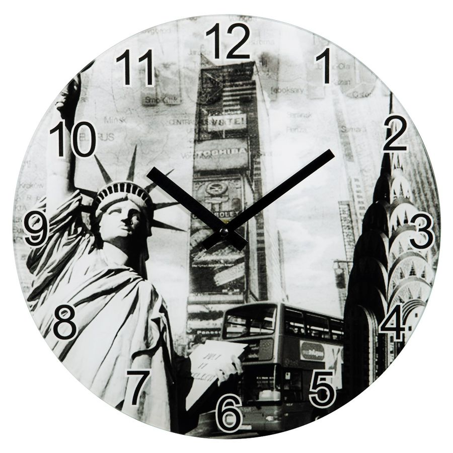 Настенные часы HAMA New York, аналоговые,  серый
