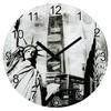 Настенные часы HAMA New York, аналоговые,  серый вид 1