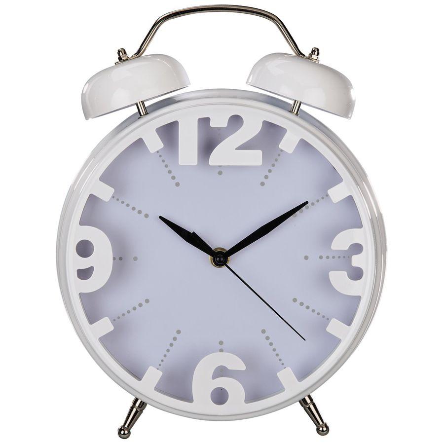 Настольные часы HAMA Nostalgia, аналоговые,  белый