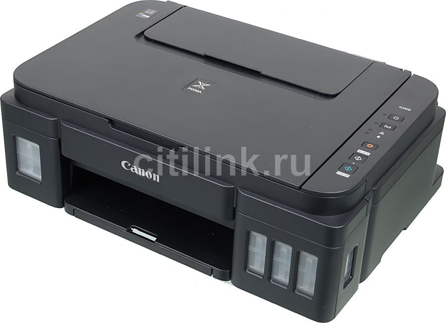 МФУ CANON Pixma G3400, A4, цветной, струйный, черный [0630c009] refillable ink cartridges for hp 70 z2100 3100 b9183 with auto reset chip