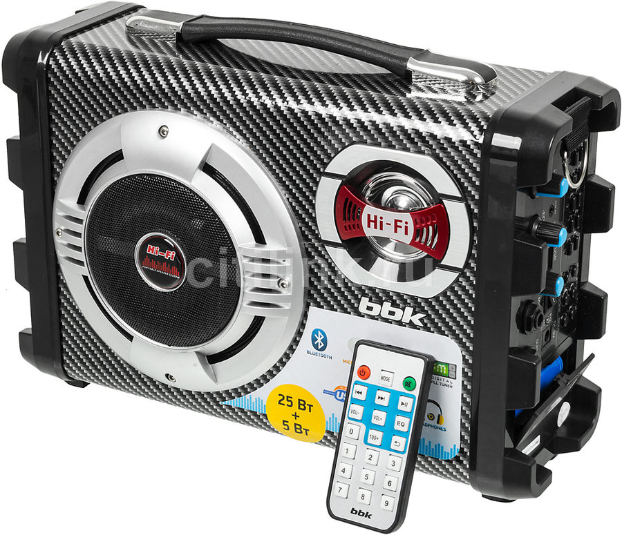Аудиомагнитола BBK BS06BT,  черный