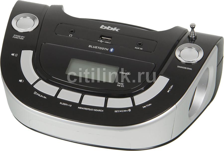 Аудиомагнитола BBK BS07BT,  черный и серебристый