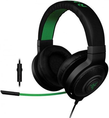 Наушники с микрофоном RAZER Kraken Pro 2015,  мониторы, черный  / зеленый [rz04-01380100-r3m1]
