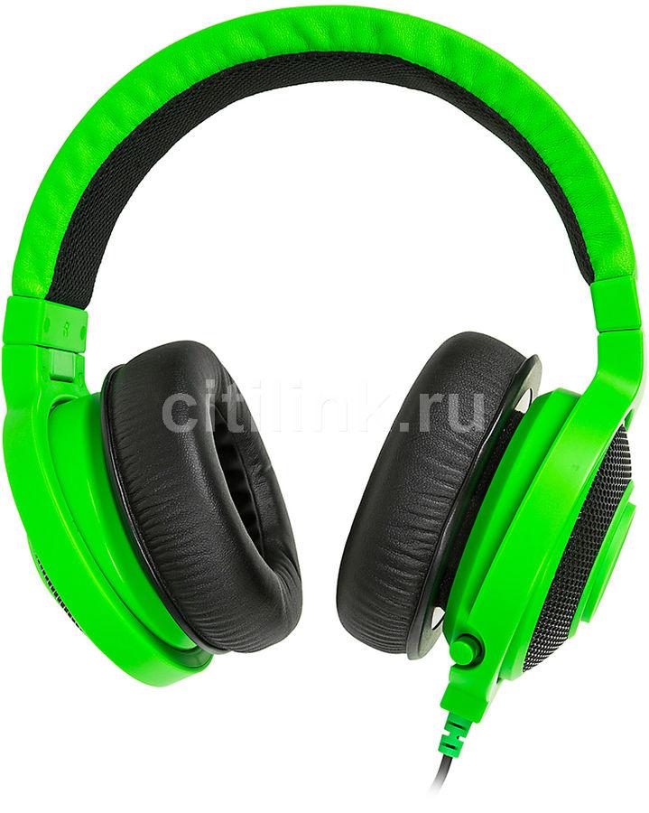 Наушники с микрофоном RAZER Kraken Pro 2015,  мониторы, зеленый  / черный [rz04-01380200-r3m1]