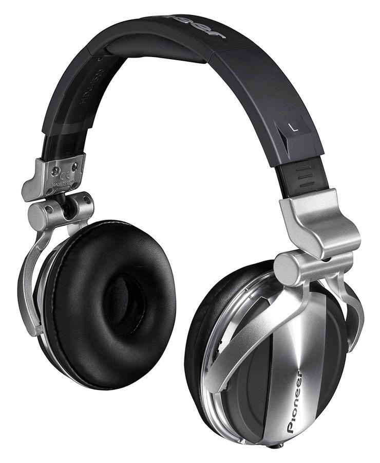 Наушники PIONEER HDJ-1500-S, накладные,  серебристый/черный, проводные
