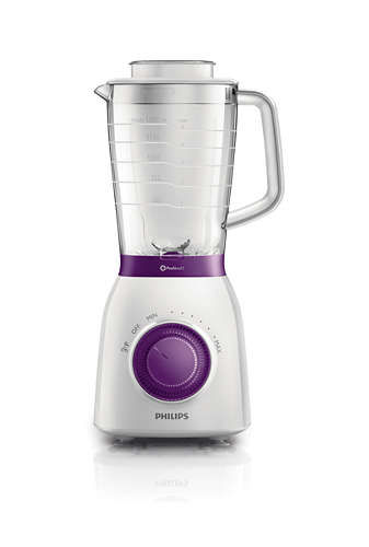 Блендер PHILIPS HR2163/00, стационарный, белый/сиреневый миксер стационарный philips hr3745 00