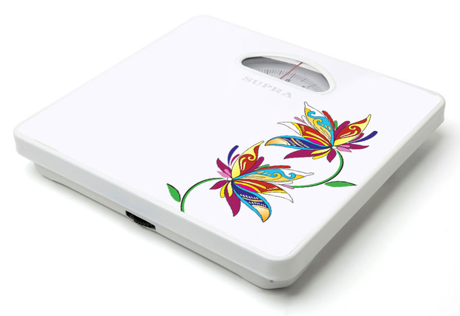Напольные весы SUPRA BSS-4060, до 130кг, цвет: белый/рисунок [6606]