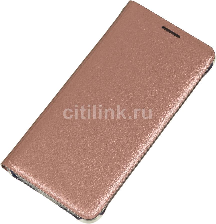 Чехол (флип-кейс) SAMSUNG Flip Wallet, для Samsung Galaxy A3 (2016), розовое золото [ef-wa310pzegru]