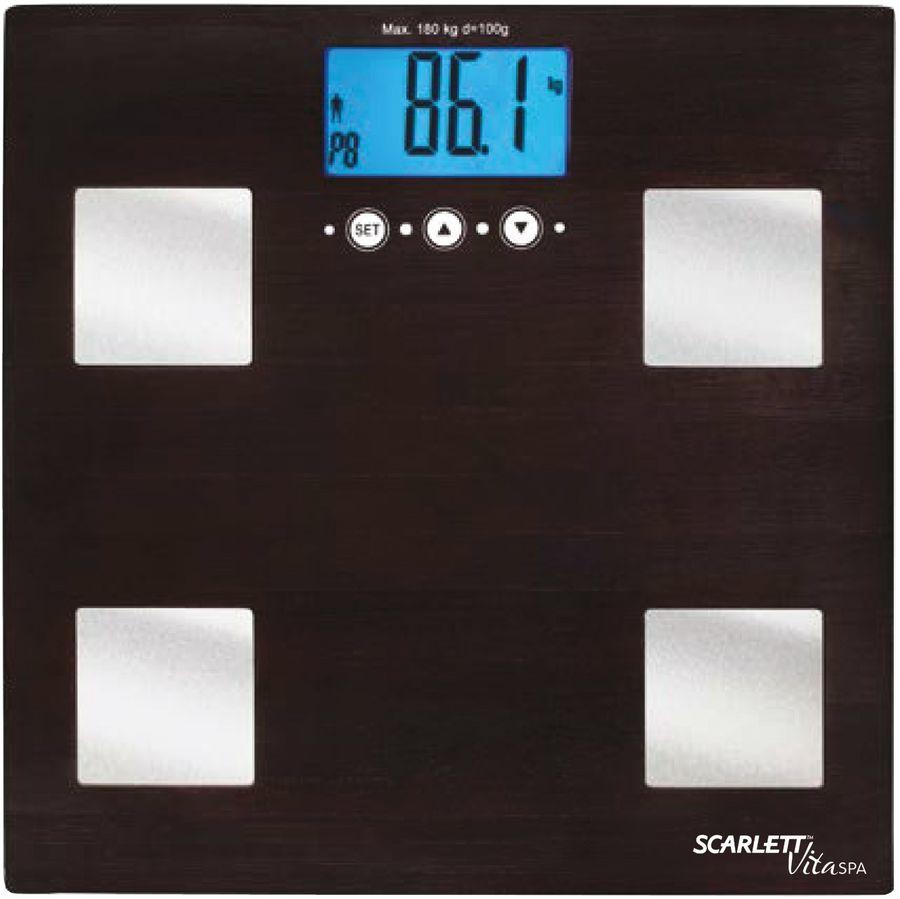 Весы SCARLETT SC-BS33ED78, до 180кг, цвет: венге